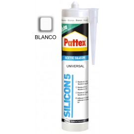 PATTEX SILICONA 5 BLANCO 280ML