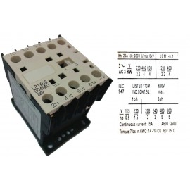 CONTACTOR LC1K09004  20A 230V